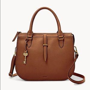 Fossil Ryder Satchel Brown Handbag
